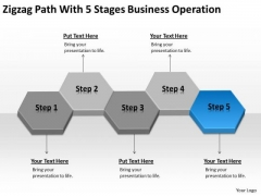 Zigzag Path With 5 Stages Business Operation Ppt Plan PowerPoint Slide