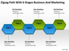Zigzag Path With 6 Stages Business And Marketing Ppt PowerPoint Templates