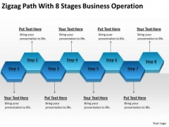 Zigzag Path With 8 Stages Business Operation Ppt How Plan PowerPoint Slides