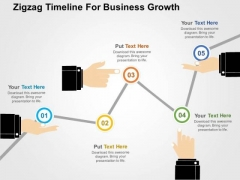Zigzag Timeline For Business Growth PowerPoint Template