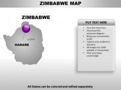Zimbabwe Country PowerPoint Maps