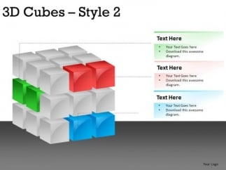 3d cube powerpoint slide designs - powerpoint templates, Modern powerpoint