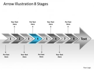 Arrow Illustration Stages Visio Templates PowerPoint - Visio timeline template