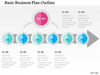 Business Diagram Basic Business Plan Outline Presentation Template ...