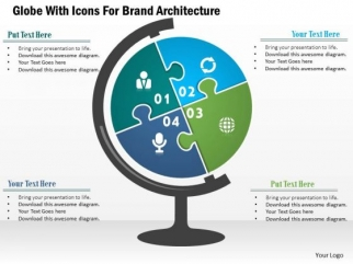Business Diagram Globe With Icons For Brand Architecture ...