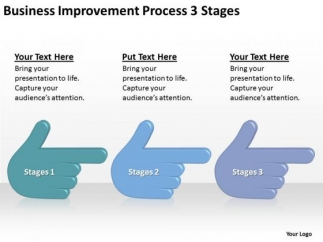 business improvement process 3 stages ppt nonprofit plan, Modern powerpoint