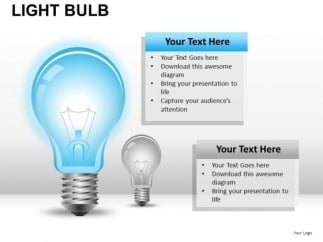 electric light bulb powerpoint slides and ppt diagram templates, Powerpoint templates