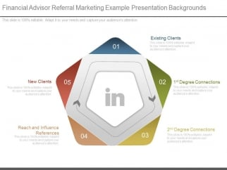 financial advisor referral marketing example presentation, Presentation templates