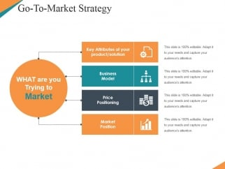 go to market strategy template 4 ppt powerpoint presentation, Modern powerpoint