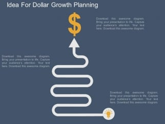 Idea_For_Dollar_Growth_Planning_Powerpoint_Template_1