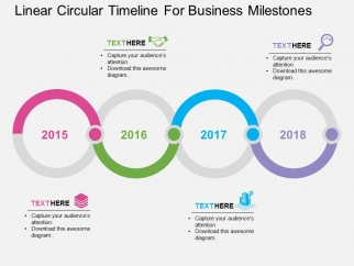 Linear Circular Timeline For Business Milestones Powerpoint ...