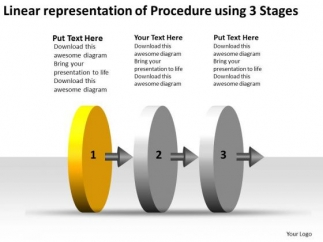 linear_representation_of_procedure_using_3_stages_wire_schematic_powerpoint_slides_1