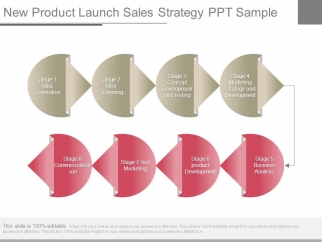 New Product Launch Sales Strategy Ppt Sample - PowerPoint Templates