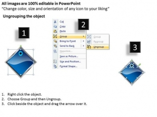 ppt_blue_diamond_linear_action_7_phase_diagram_powerpoint_templates_2