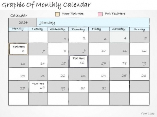 Ppt Slide Graphic Of Monthly Calendar Marketing Plan - PowerPoint ...