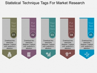 statistical technique tags for market research powerpoint template, Powerpoint templates