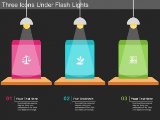 Three_Icons_Under_Flash_Lights_Powerpoint_Template_1
