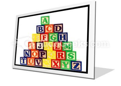 Abc Blocks PowerPoint Icon F
