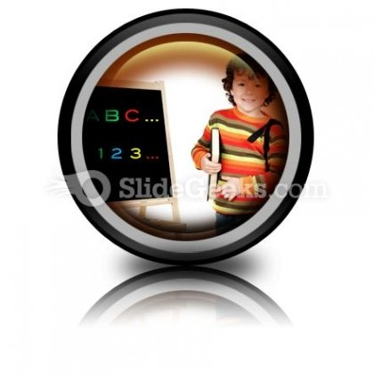 Adorable Child Studying PowerPoint Icon Cc