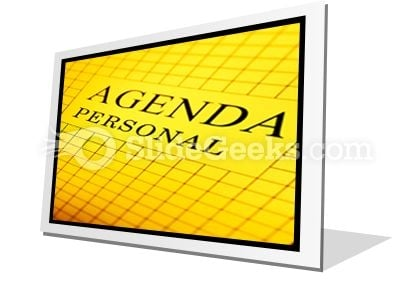 Agenda PowerPoint Icon F