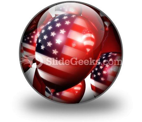 America Balloons01 PowerPoint Icon C