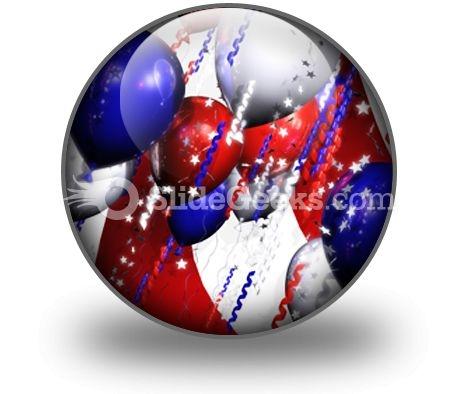 America Balloons PowerPoint Icon C