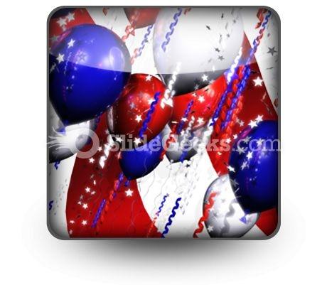 America Balloons PowerPoint Icon S