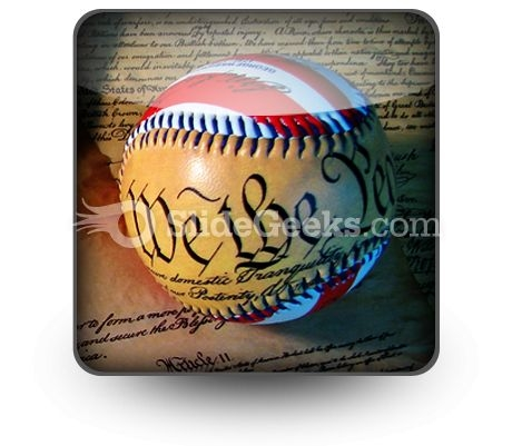 America Baseball PowerPoint Icon S