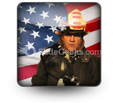 American Firefighter PowerPoint Icon S