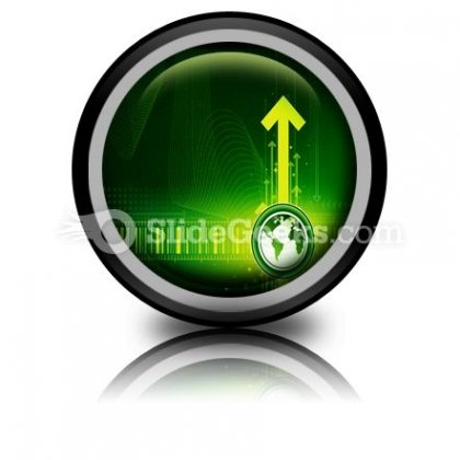 Arrows And World Map PowerPoint Icon Cc