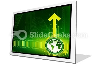 Arrows And World Map PowerPoint Icon F