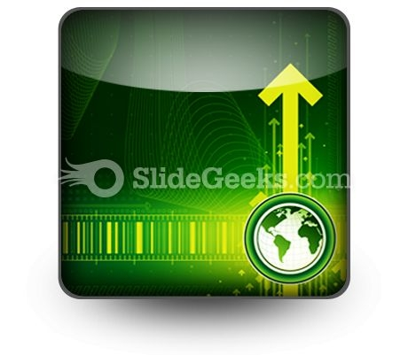 Arrows And World Map PowerPoint Icon S