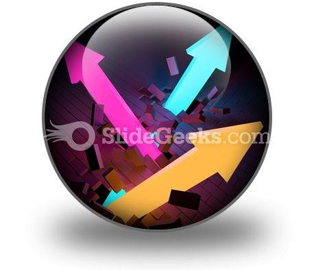 Arrows Breaking PowerPoint Icon C