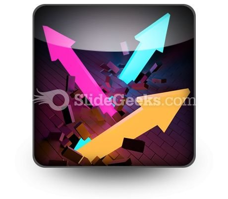 Arrows Breaking PowerPoint Icon S