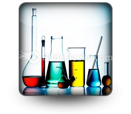 Assorted Laboratory Glassware PowerPoint Icon S