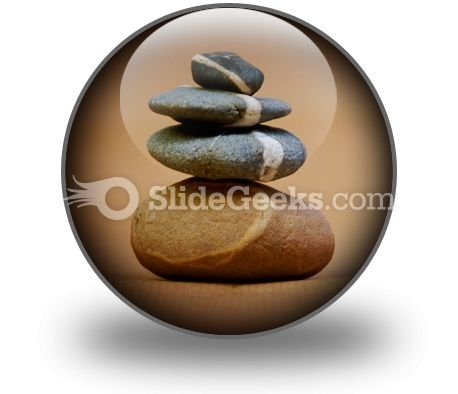 Balanced Pebbles PowerPoint Icon C