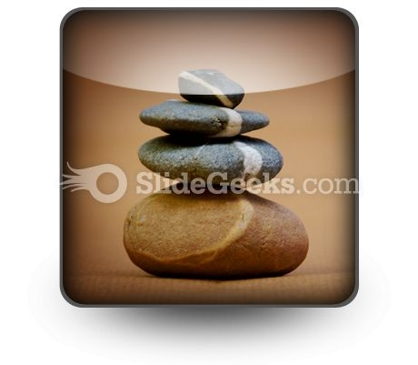 Balanced Pebbles PowerPoint Icon S
