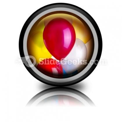 Balloons PowerPoint Icon Cc