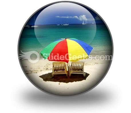 Beach Relax PowerPoint Icon C