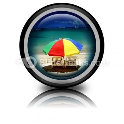 Beach Relax PowerPoint Icon Cc