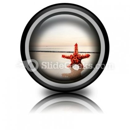 Beach Starfish PowerPoint Icon Cc