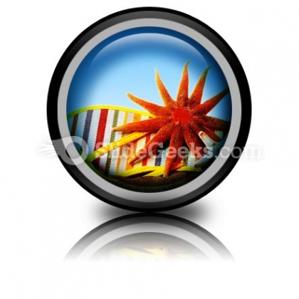 Beach Still Life PowerPoint Icon Cc