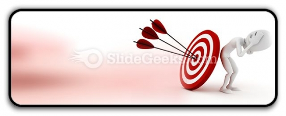 Behind Target PowerPoint Icon R