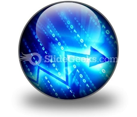 Blue Data Space PowerPoint Icon C