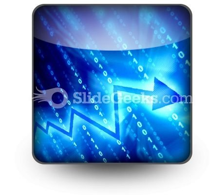 Blue Data Space PowerPoint Icon S