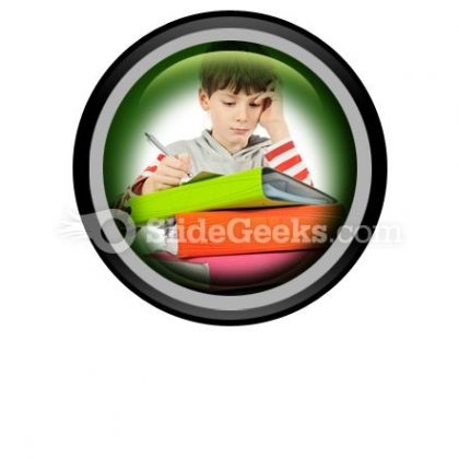 Boy With Books PowerPoint Icon Cc