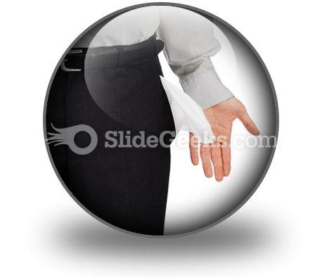 Broke Businessman PowerPoint Icon C