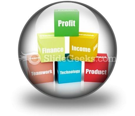 Business Blocks PowerPoint Icon C