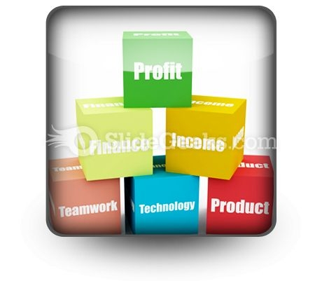 Business Blocks PowerPoint Icon S