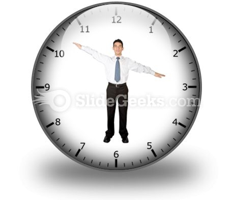 Business Clock PowerPoint Icon C